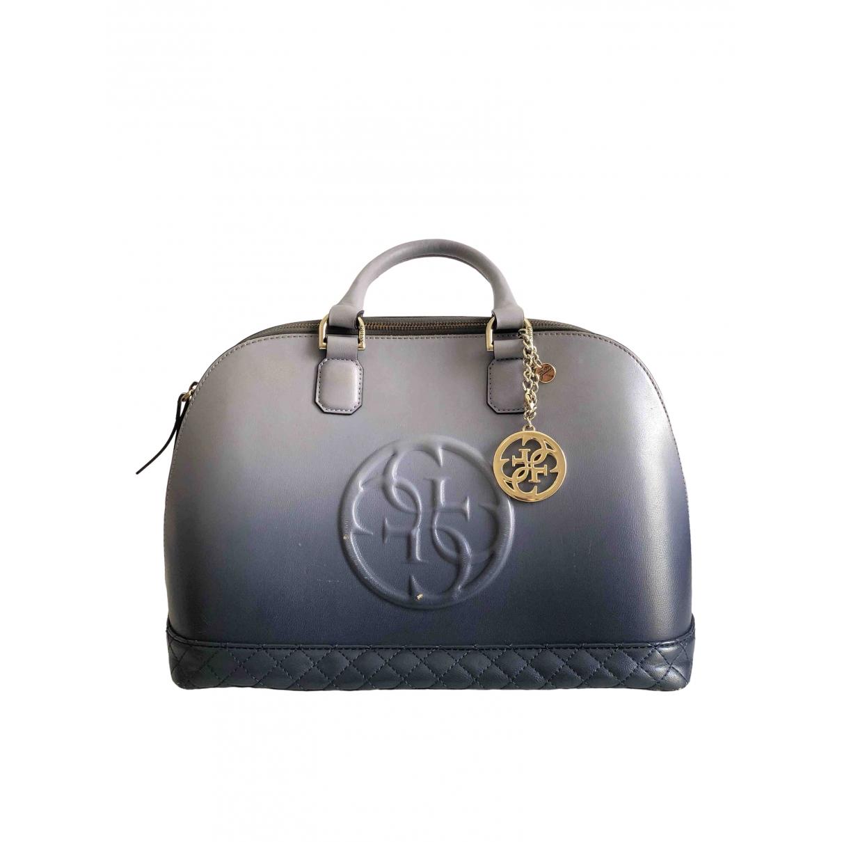 Guess \N Handtasche in  Blau Leder