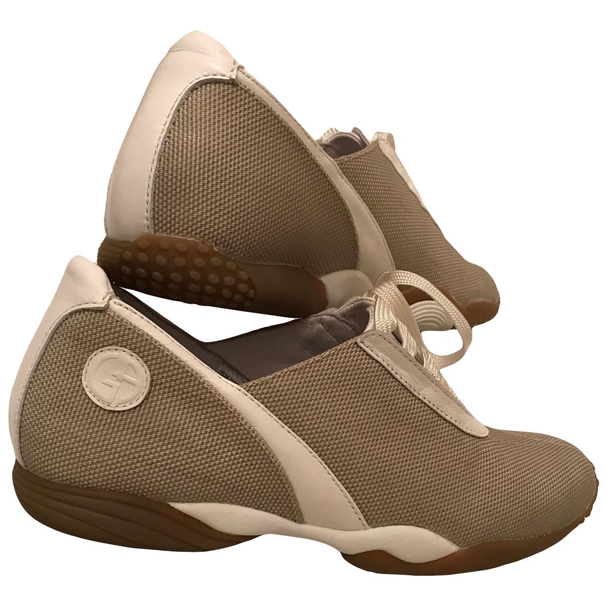 Giorgio Armani - Baskets   pour femme en toile - beige