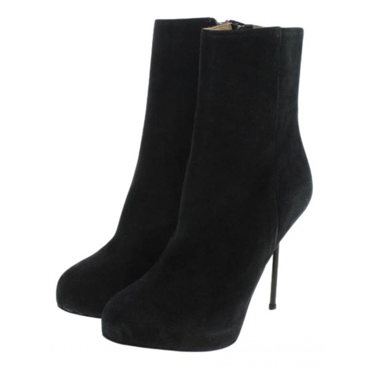 Acne Studios \N Black Suede Ankle boots for Women 36 EU