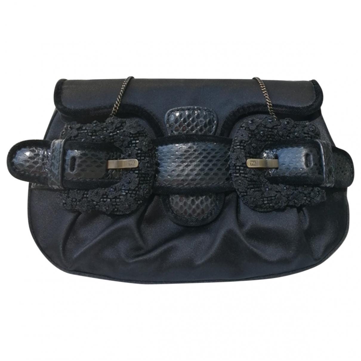 Fendi B Bag Handtasche in  Schwarz Seide