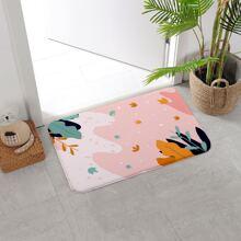 Leaf Print Floor Mat