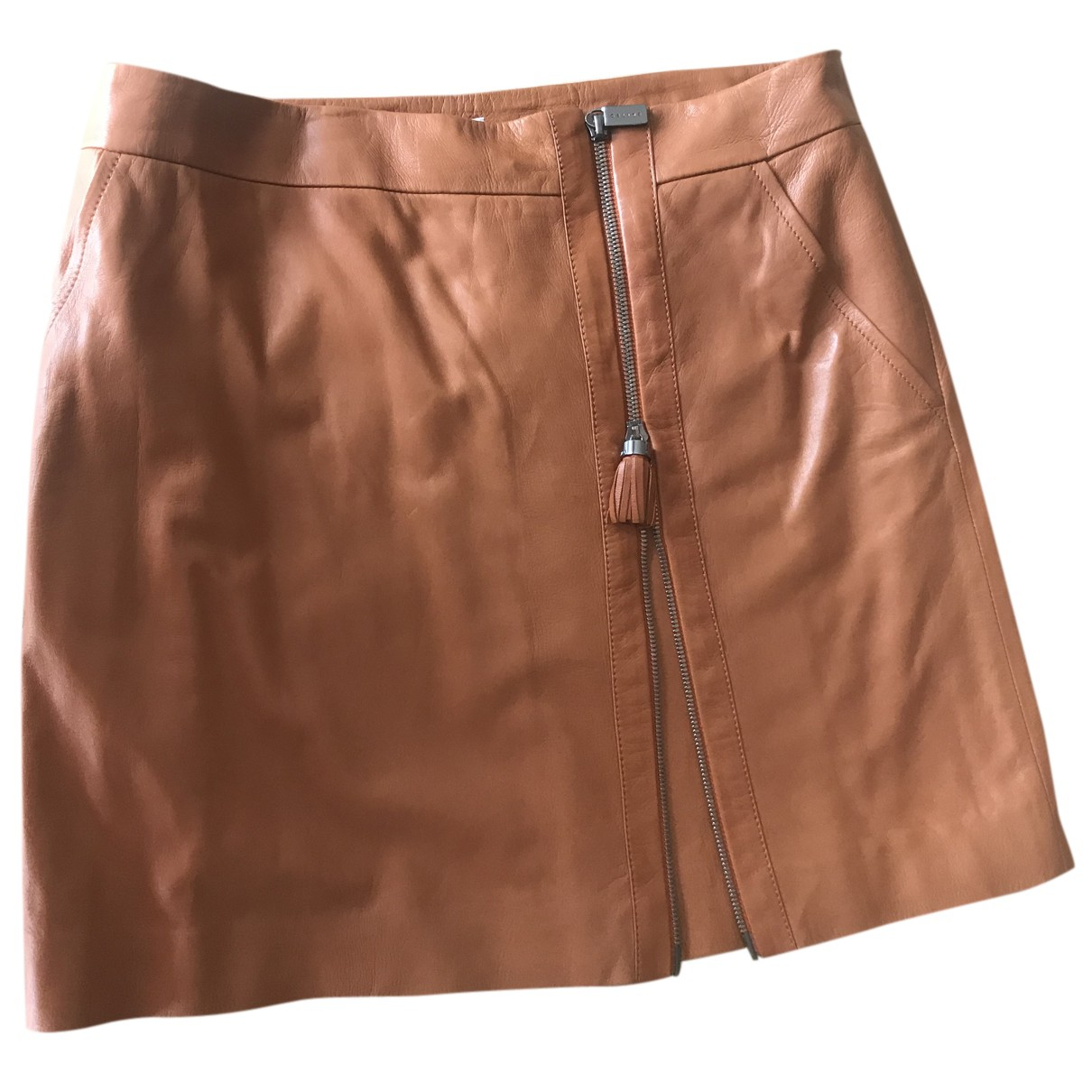 Celine N Camel Leather skirt for Women 38 FR