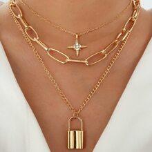Halskette mit Schloss Anhaenger