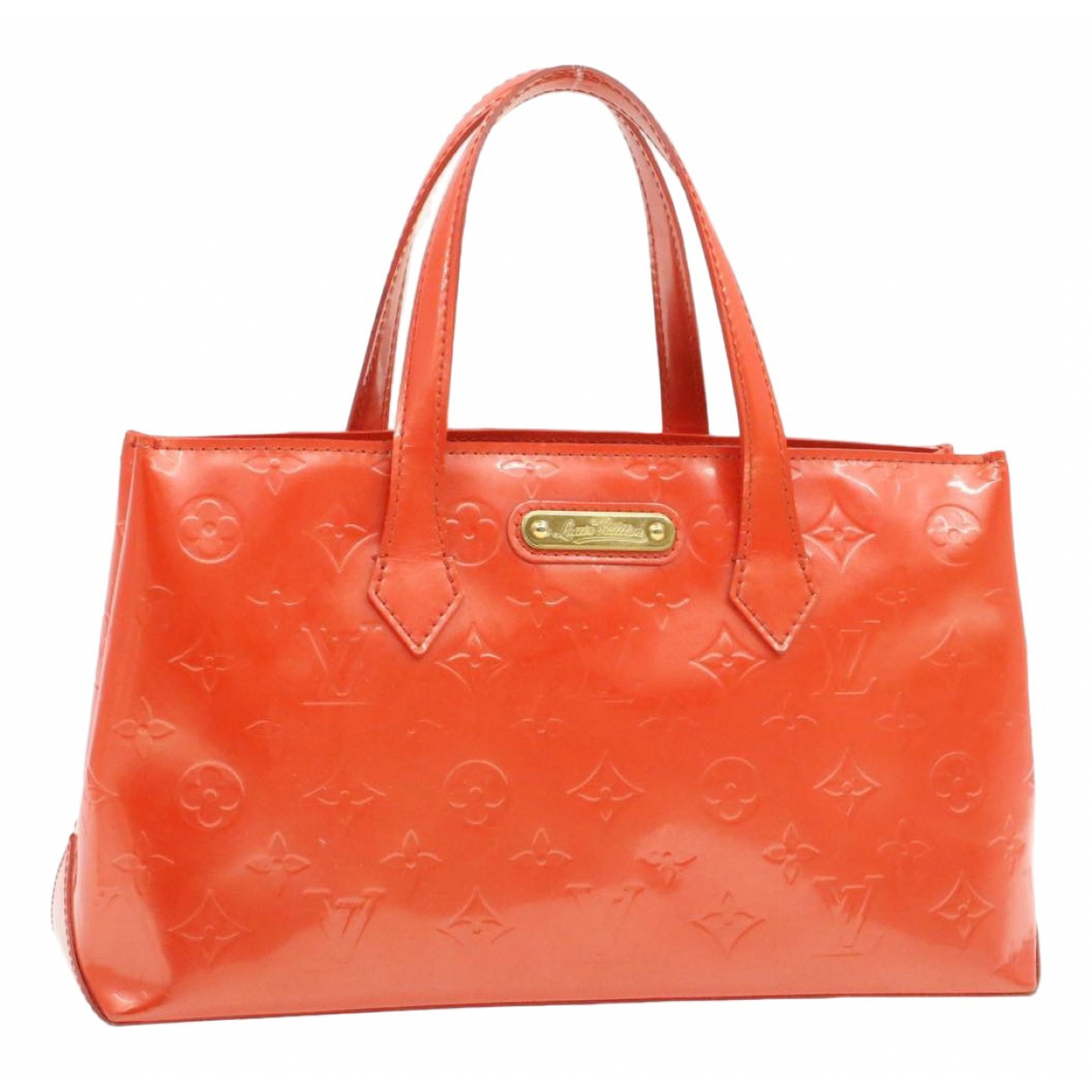 Louis Vuitton Wilshire Orange Patent leather handbag for Women N