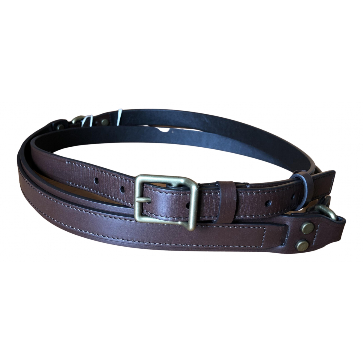 Lanvin N Brown Leather belt for Women S International