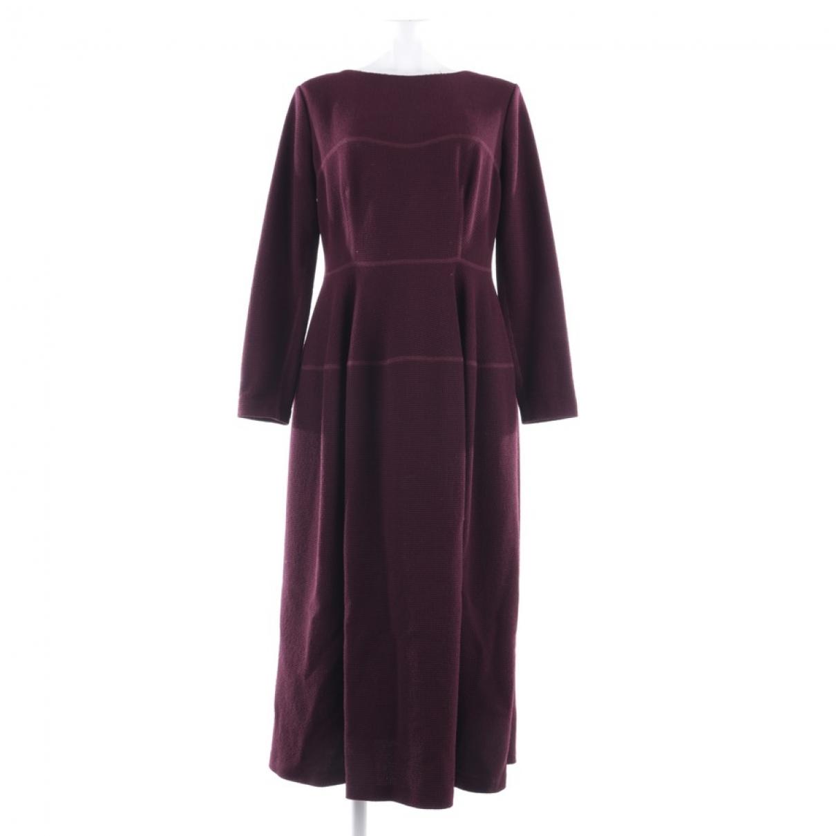 Talbot Runhof - Robe   pour femme en laine - rouge