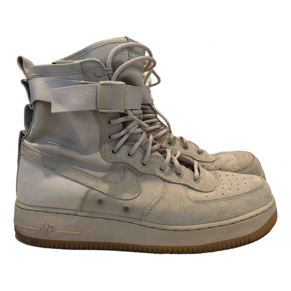 Nike - Baskets SF Air Force 1 pour homme en suede - kaki