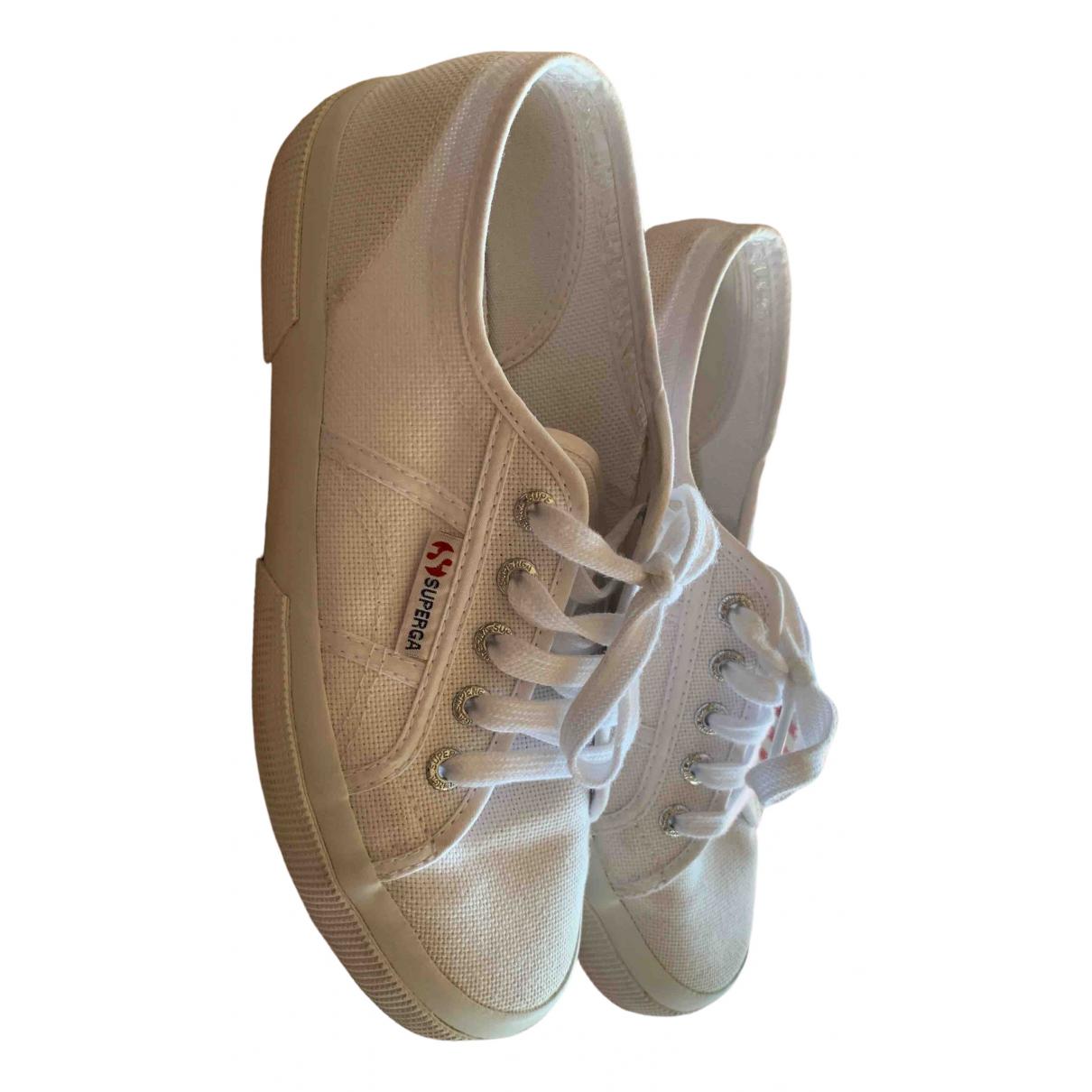 Superga \N White Cloth Trainers for Women 38 EU