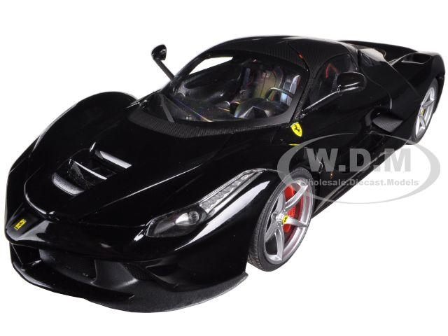 Ferrari Laferrari F70 Hybrid Elite Edition Black 1/18 Diecast Car Model by Hotwheels