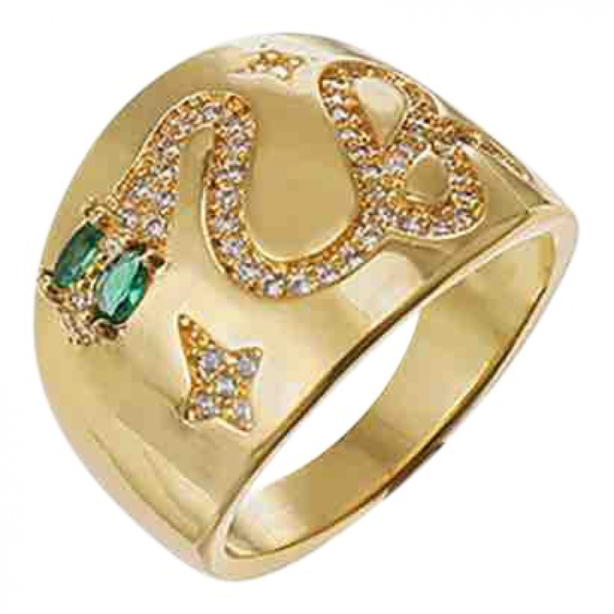 Non Signe / Unsigned Motifs Animaliers Ring in  Gold Metall