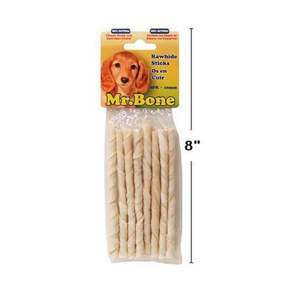 Gâterie à mâcher en cuir brut de qualité supérieure, 8 / paquet - Mr. Bone