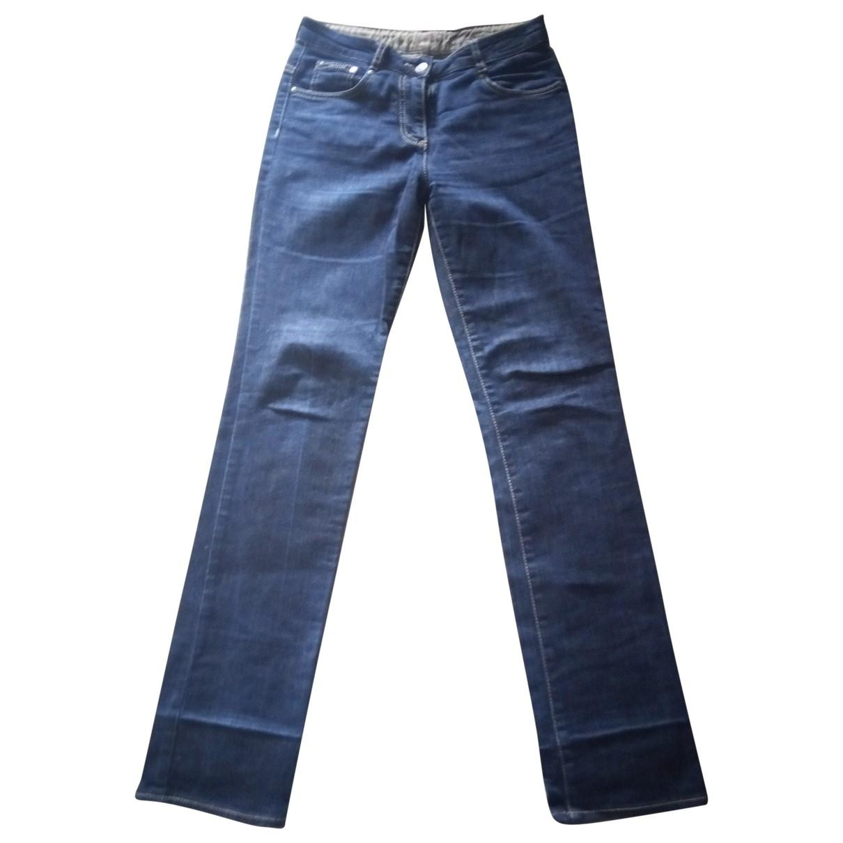 Calvin Klein \N Blue Cotton - elasthane Jeans for Women 37 FR