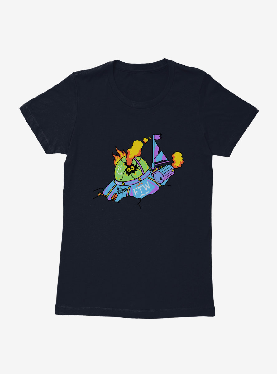 Rick And Morty El Ricko Saucer Womens T-Shirt