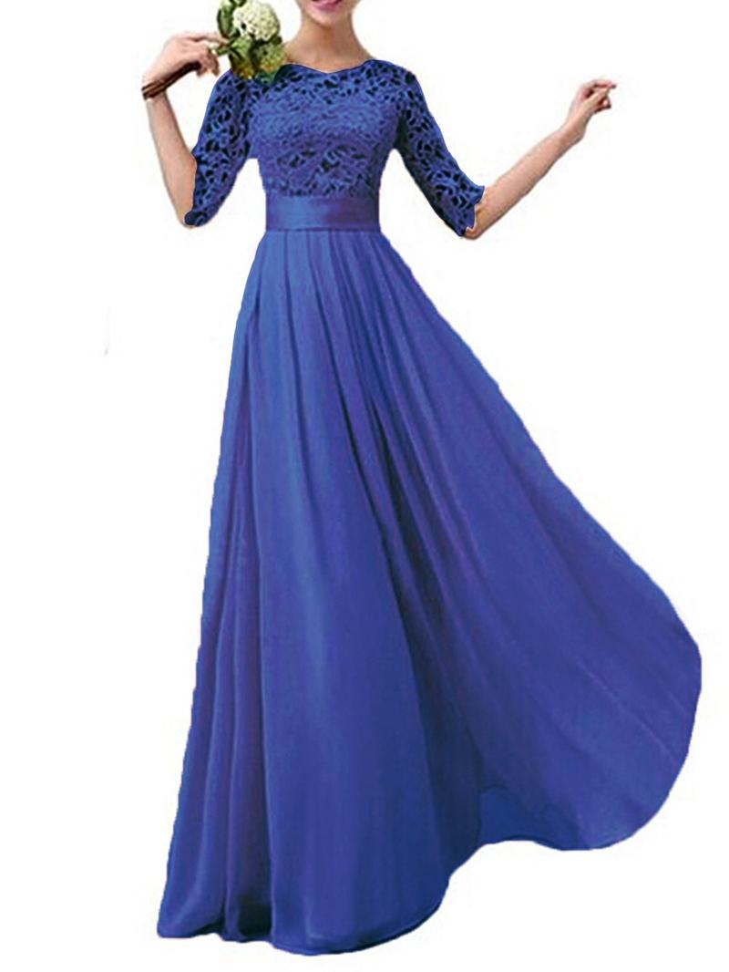 Ericdress Lace Half Sleeve Bridesmaid Dress