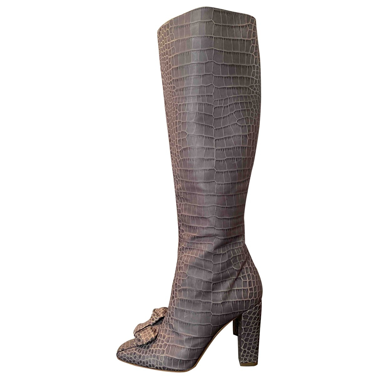 Christian Dior \N Grey Leather Boots for Women 38.5 EU