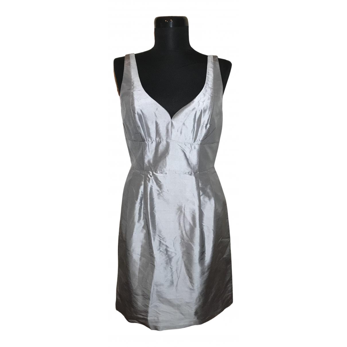 J.crew - Robe   pour femme en soie - argente