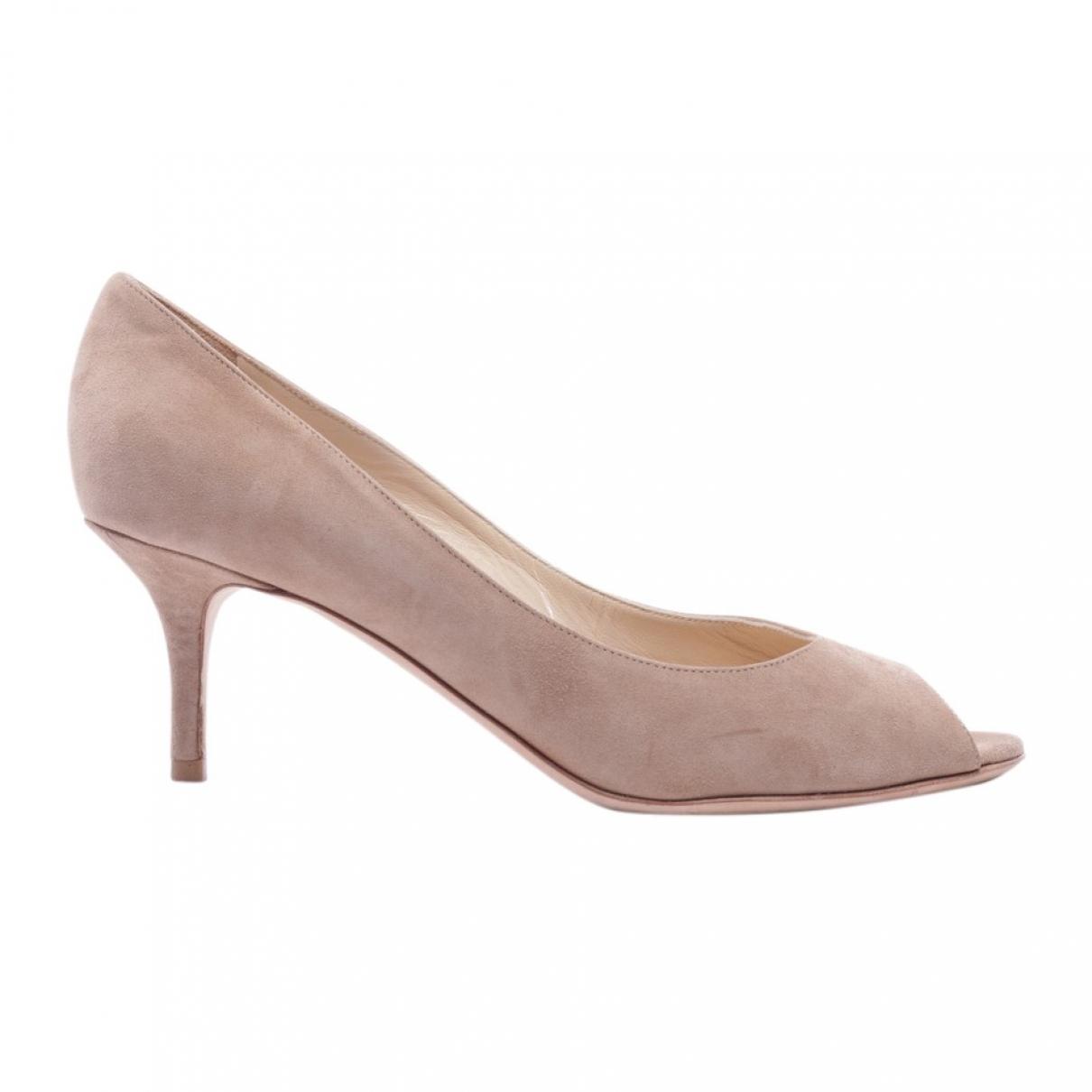 Jimmy Choo \N Beige Cloth Heels for Women 37.5 EU