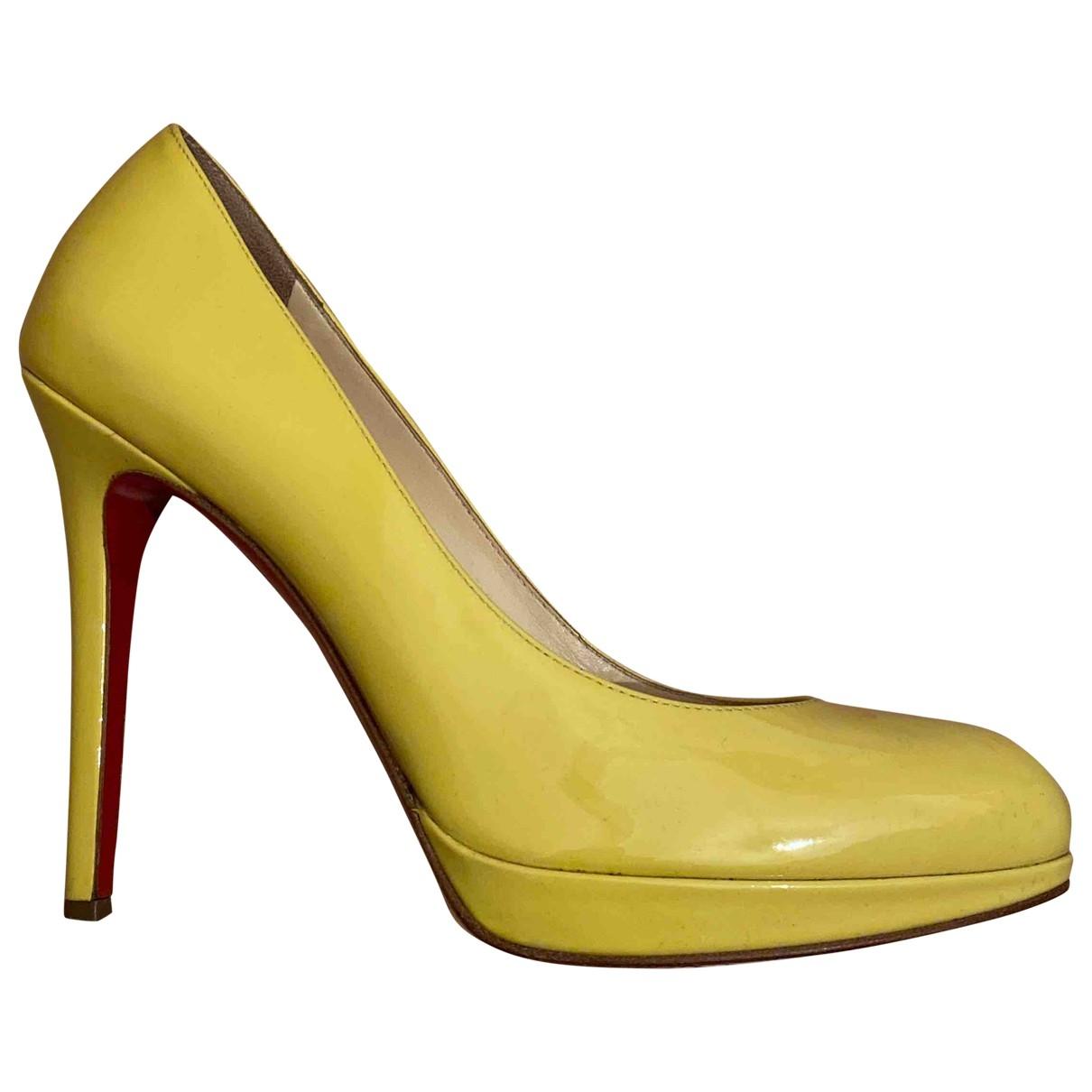 Christian Louboutin - Escarpins Simple pump pour femme en cuir verni - jaune