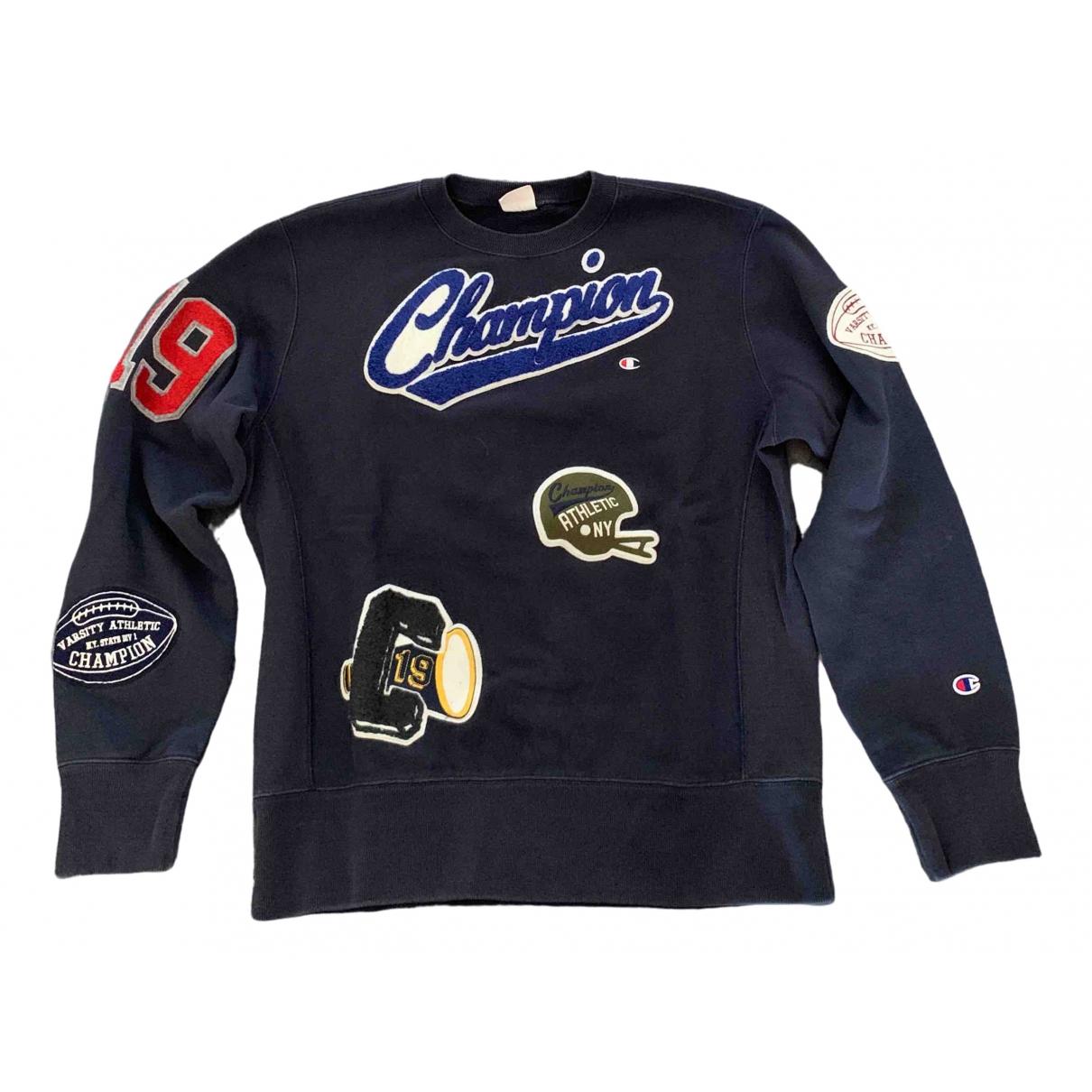 Champion \N Pullover.Westen.Sweatshirts  in  Marine Baumwolle