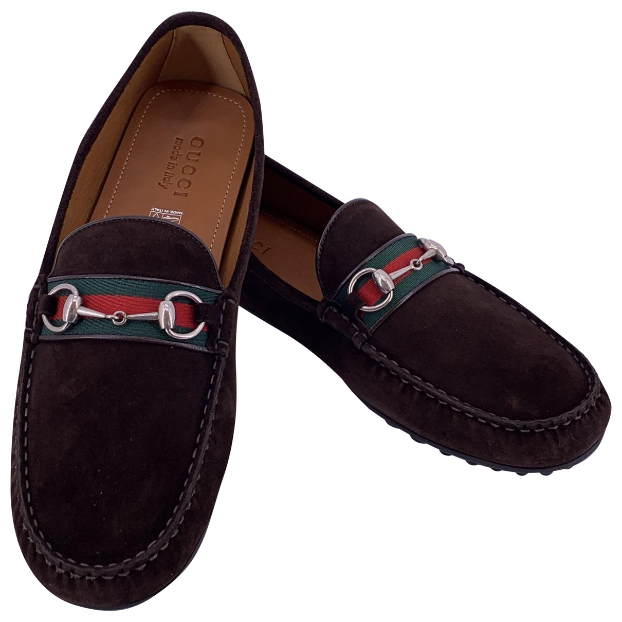 Gucci \N Brown Suede Flats for Men 47 EU