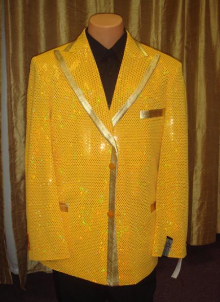 Mens Sequin Jacket/Blazer in Gold