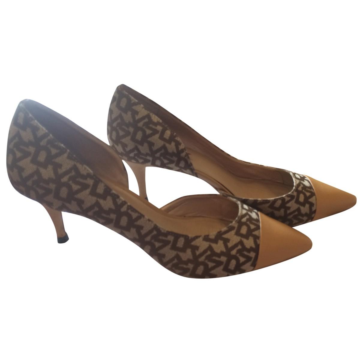Dkny \N Beige Cloth Heels for Women 37.5 EU