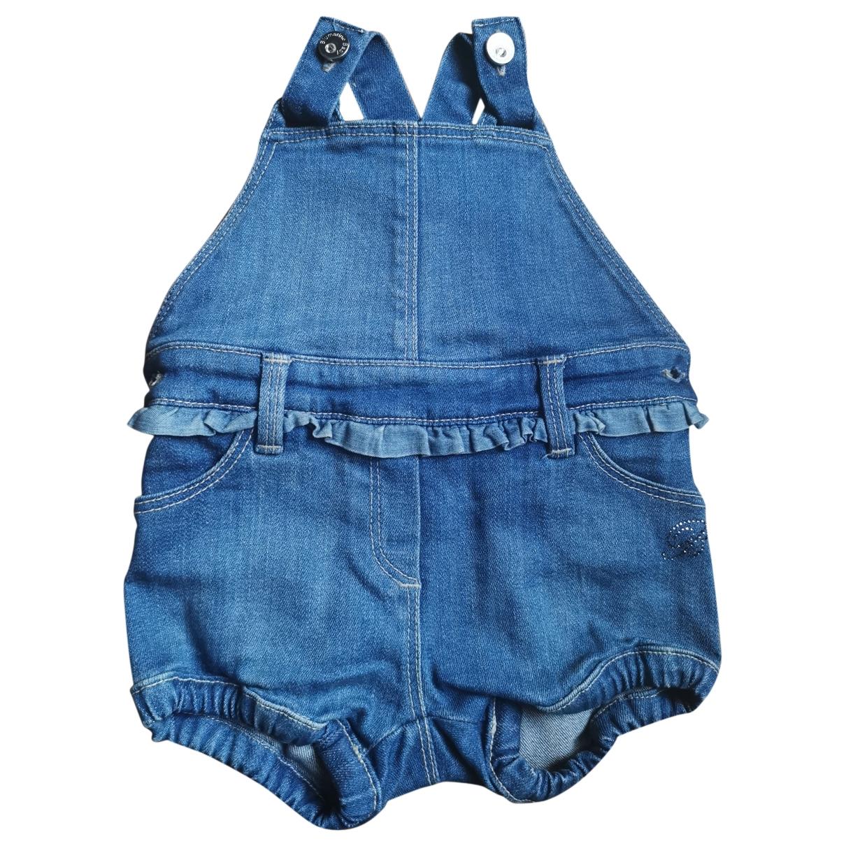 Blumarine - Pantalon   pour enfant en denim - bleu