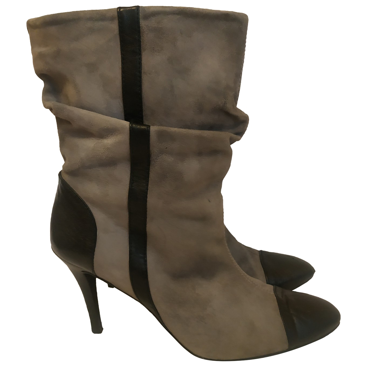 Zara - Bottes   pour femme en suede - gris