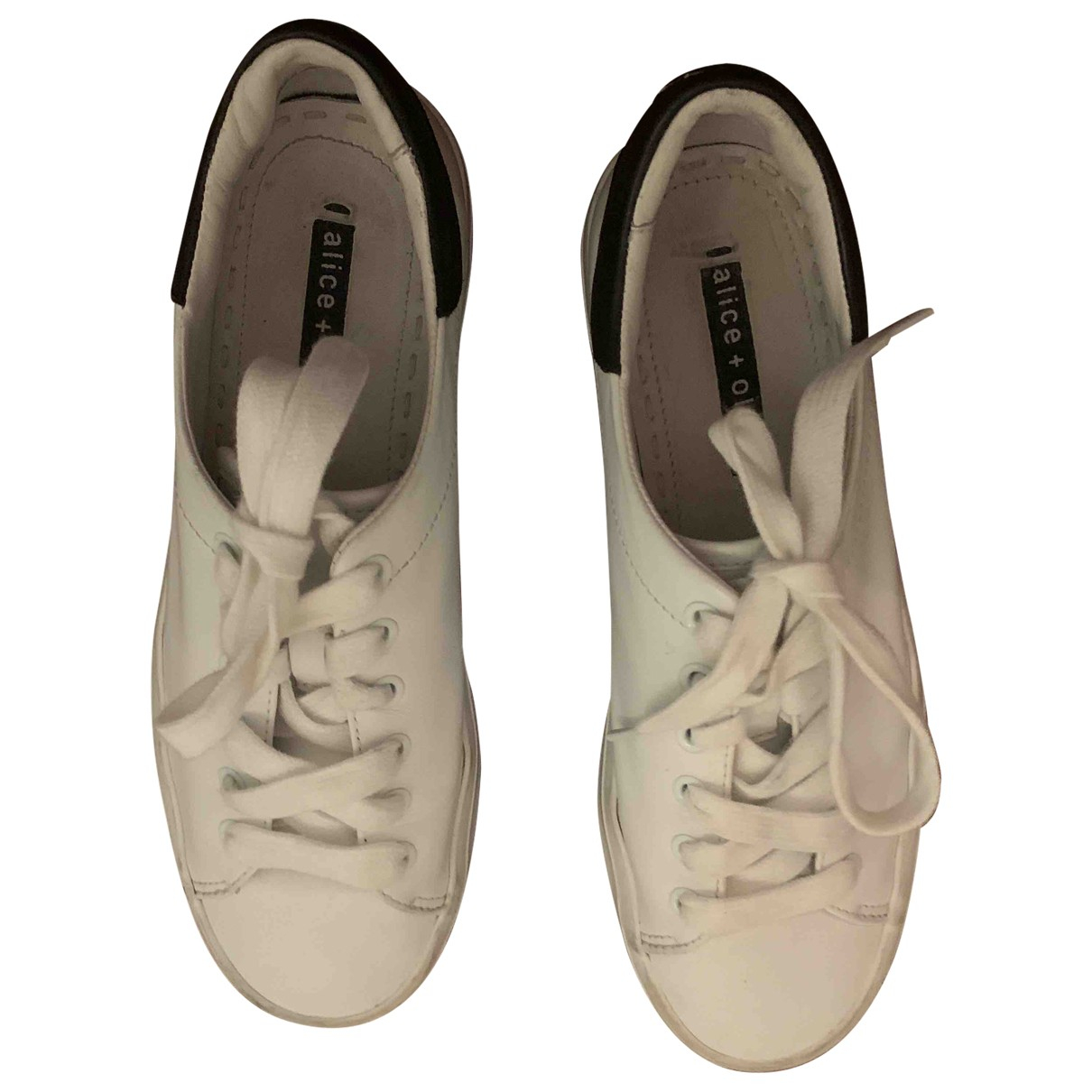 Alice & Olivia \N Sneakers in  Weiss Leder