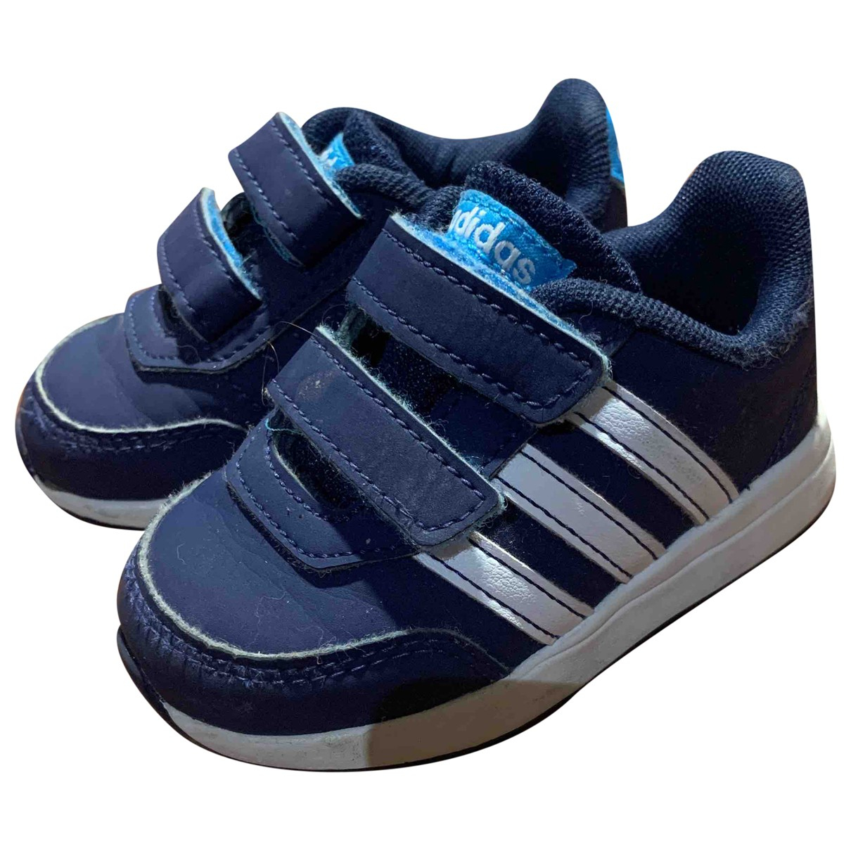 Adidas Superstar Blue Leather Trainers for Kids 20 FR