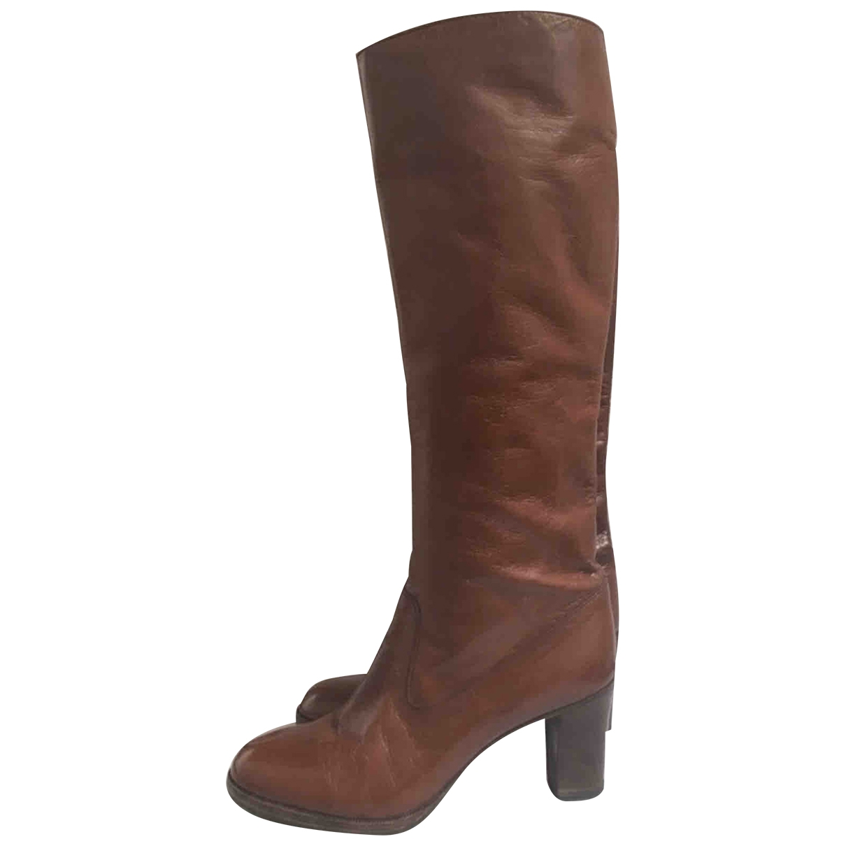 Non Signé / Unsigned \N Leather Boots for Women 36.5 EU