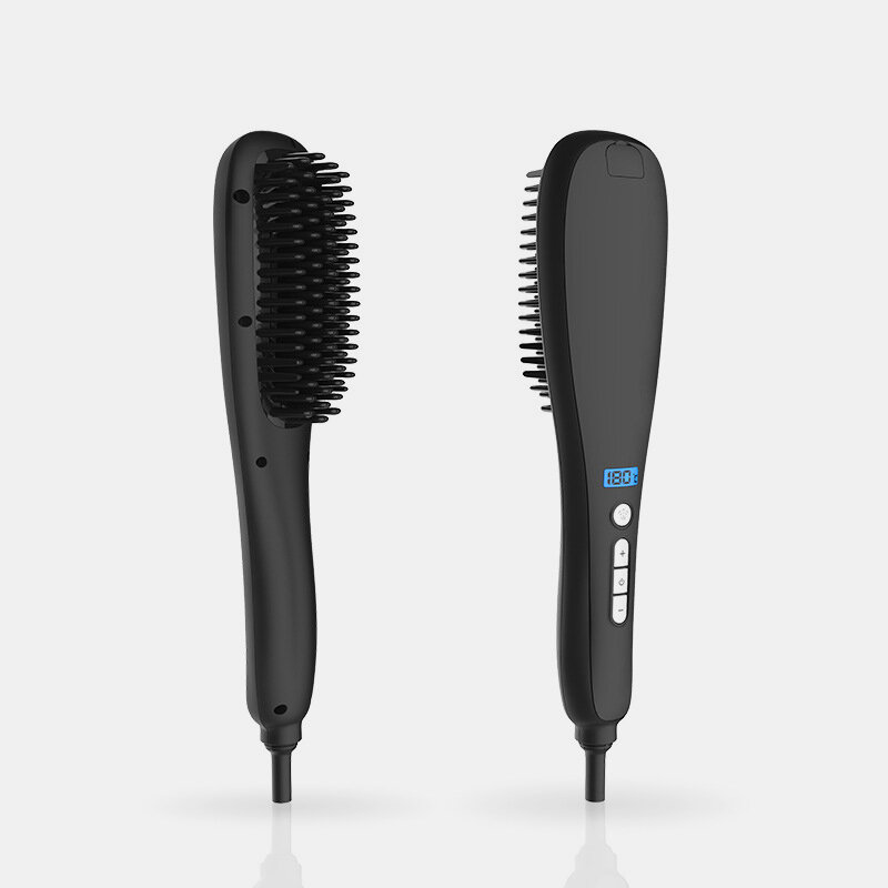 Spray Straight Hair Comb LED LCD Display Negative Ion Spray Non Hurt Hair Straight Hair Comb