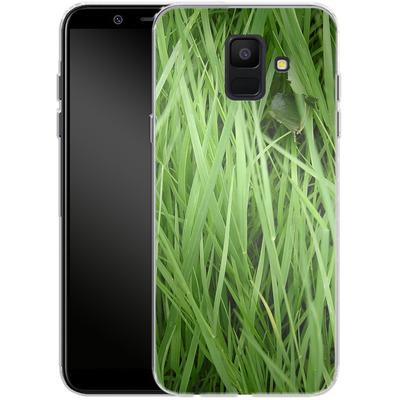 Samsung Galaxy A6 Silikon Handyhuelle - Grass von caseable Designs