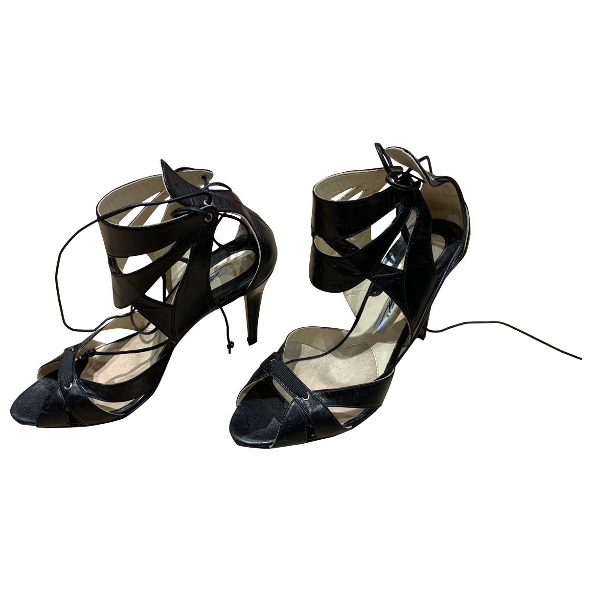 Brian Atwood - Sandales   pour femme en cuir - noir