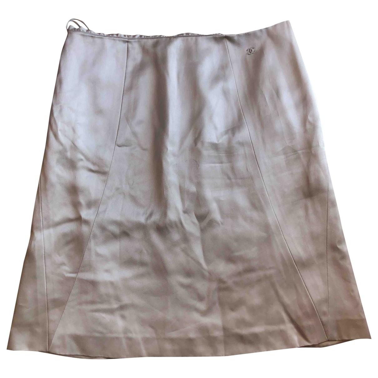 Chanel - Jupe   pour femme en soie - gris