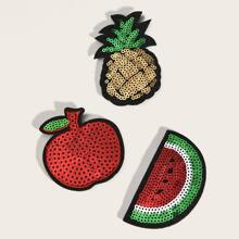 3pcs Fruit Design Hair Sticker