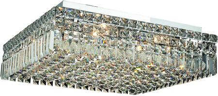 V2032F20C/SS 2032 Maxime Collection Flush Mount L:20In W:20In H:5.5In Lt:12 Chrome Finish (Swarovski   Elements