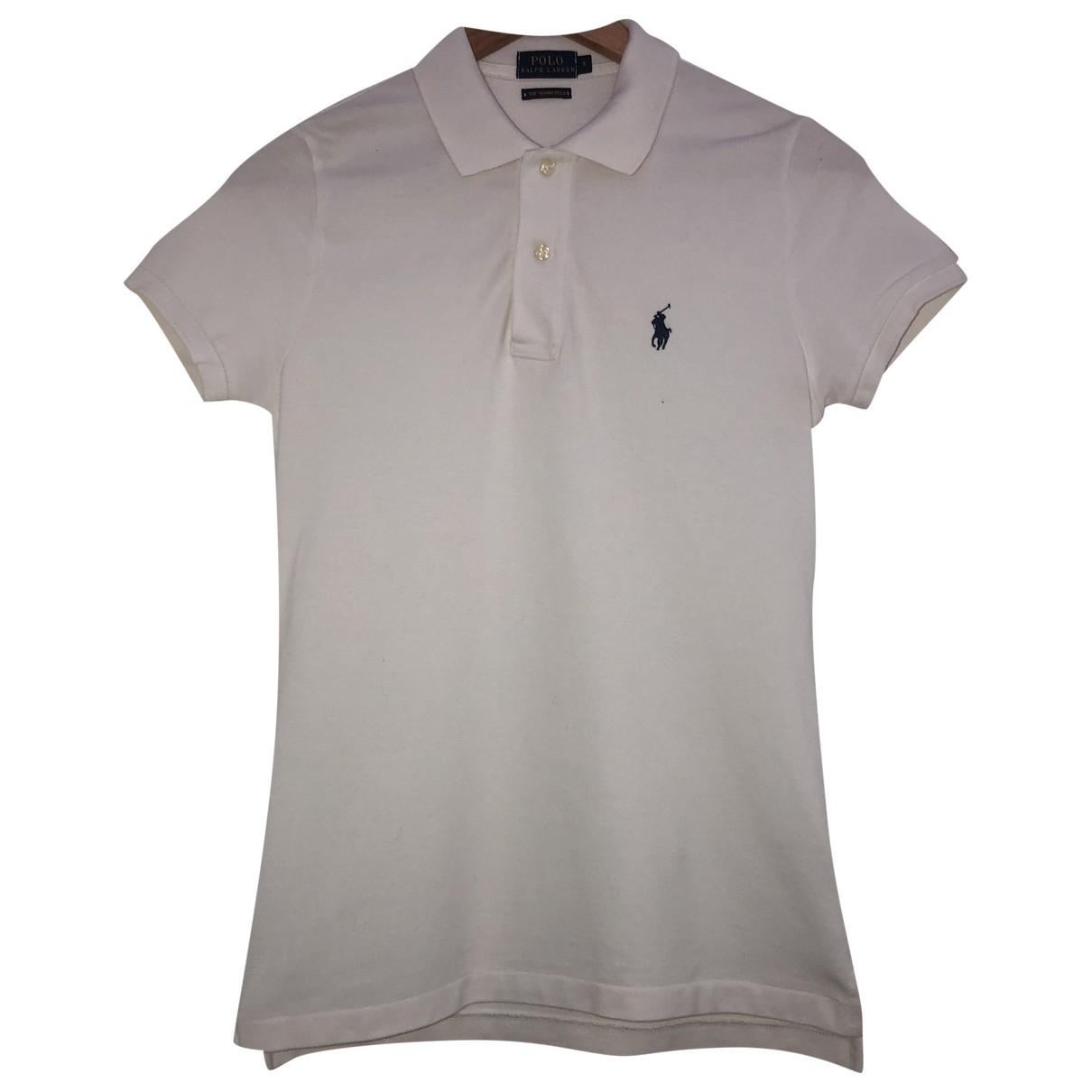 Ralph Lauren - Top   pour femme en coton - blanc