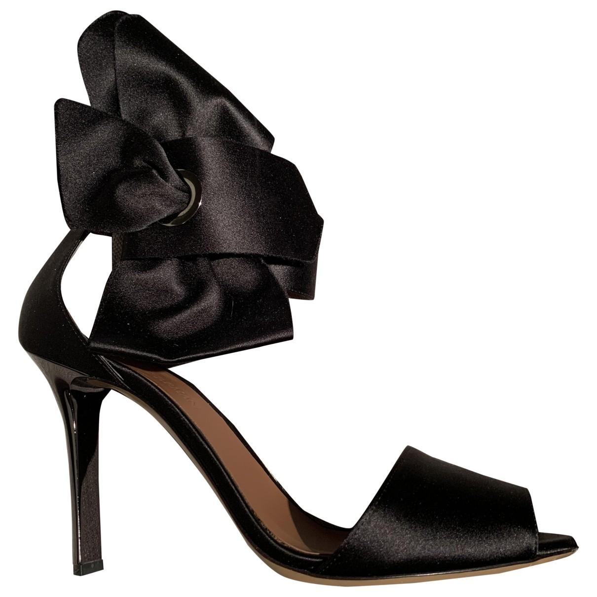 Emporio Armani \N Black Cloth Sandals for Women 38 EU