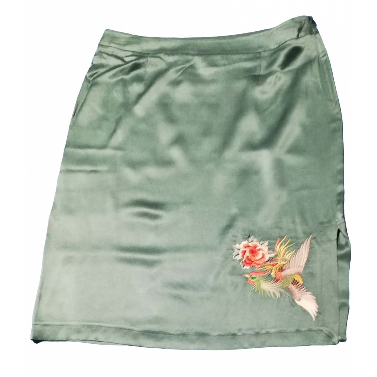 Blumarine - Jupe   pour femme en soie - turquoise