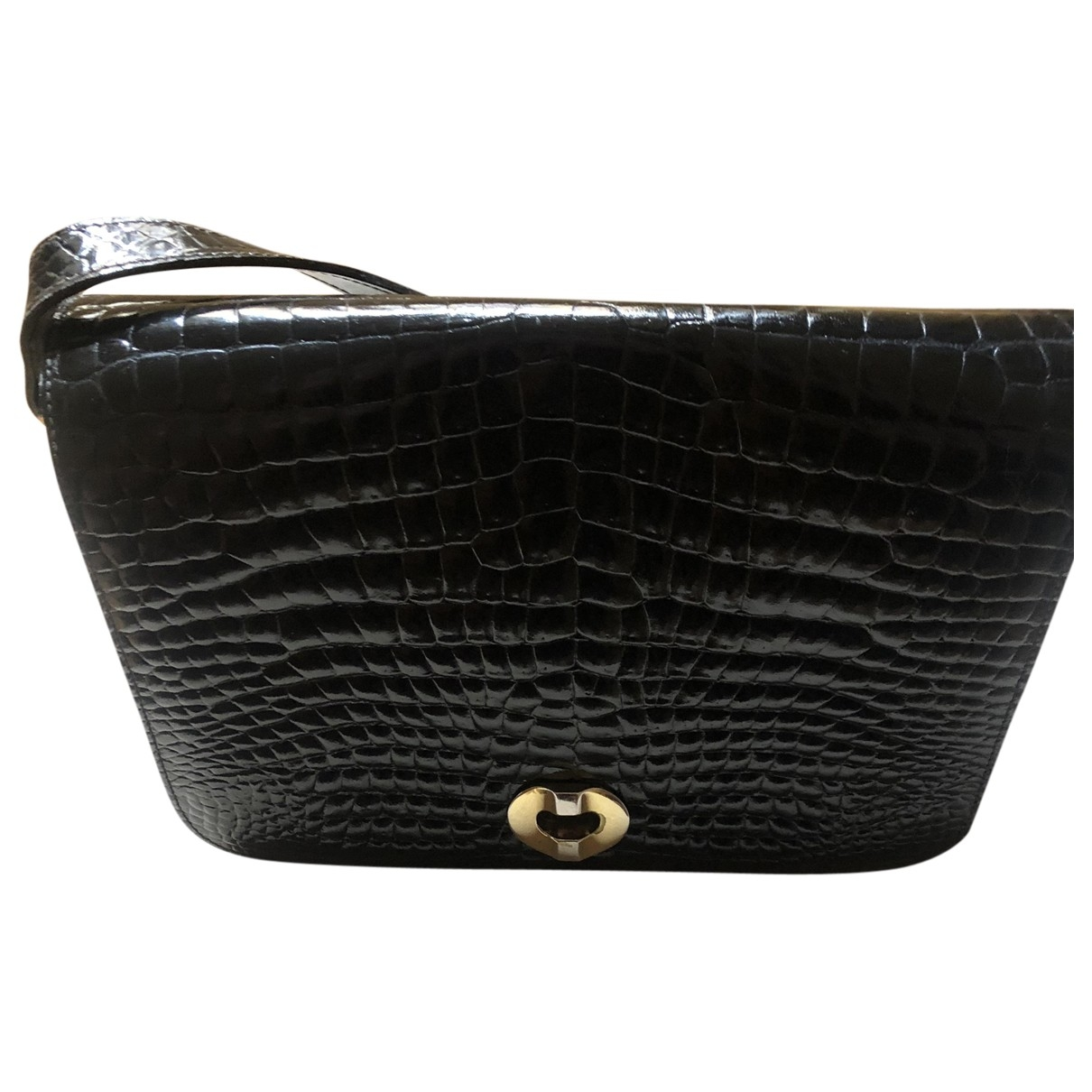 Non Signé / Unsigned \N Black Crocodile handbag for Women \N