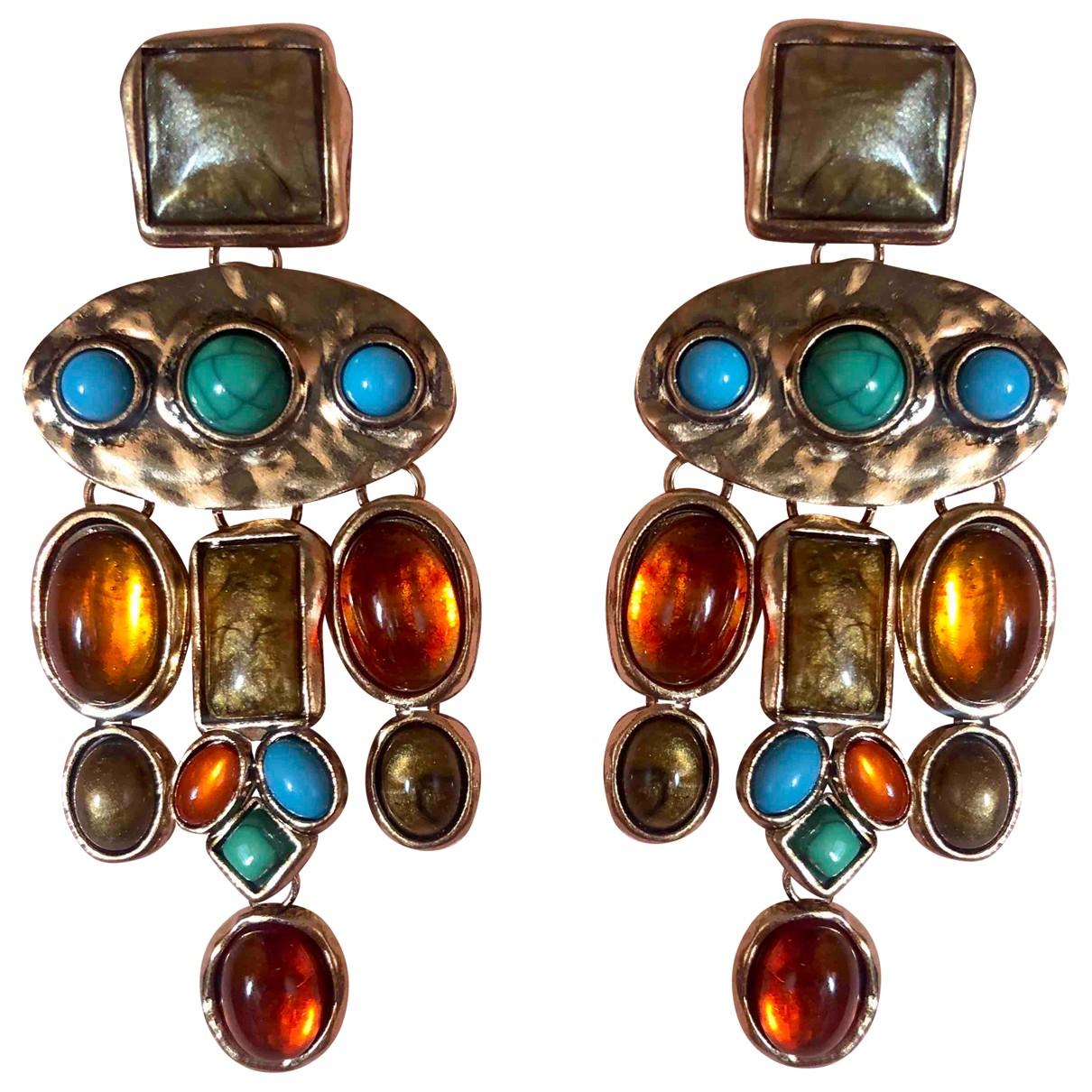 - Boucles doreilles Dormeuses pour femme en metal - multicolore