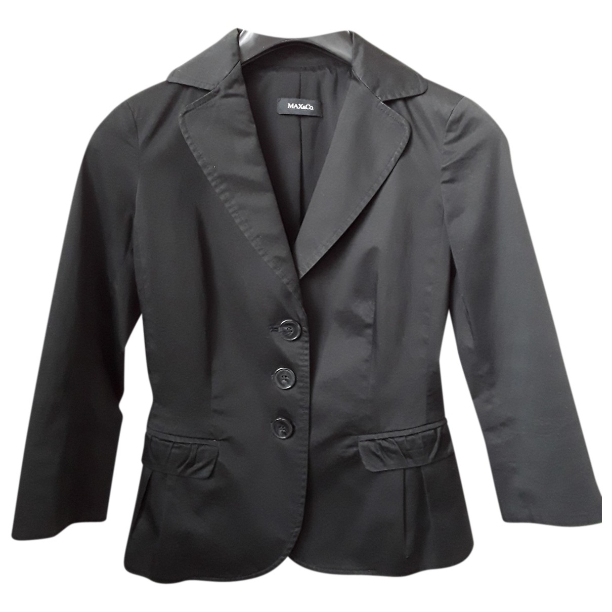 Max & Co \N Black Cotton jacket for Women 34 FR