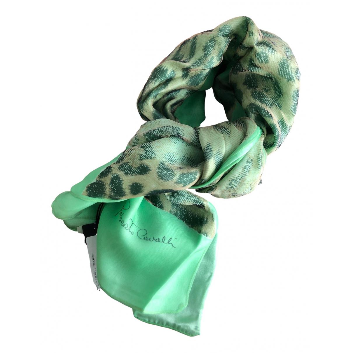 Roberto Cavalli - Foulard   pour femme en soie - vert