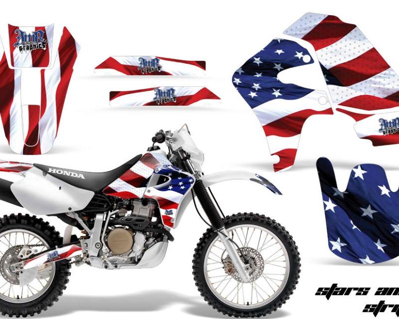 AMR Racing Dirt Bike Graphics Kit Decal Sticker Wrap For Honda XR650R 2000-2010?USA FLAG