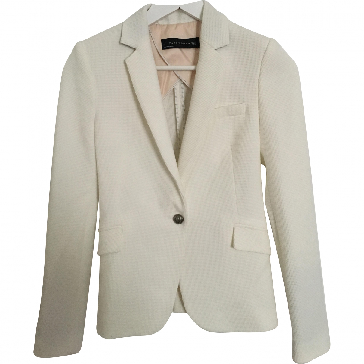 Chaqueta en Sintetico Blanco Zara