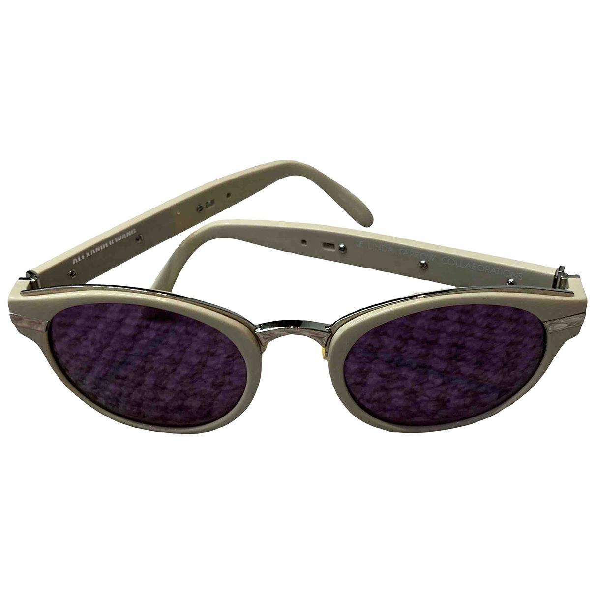 Alexander Wang \N Sonnenbrillen in  Beige Kunststoff