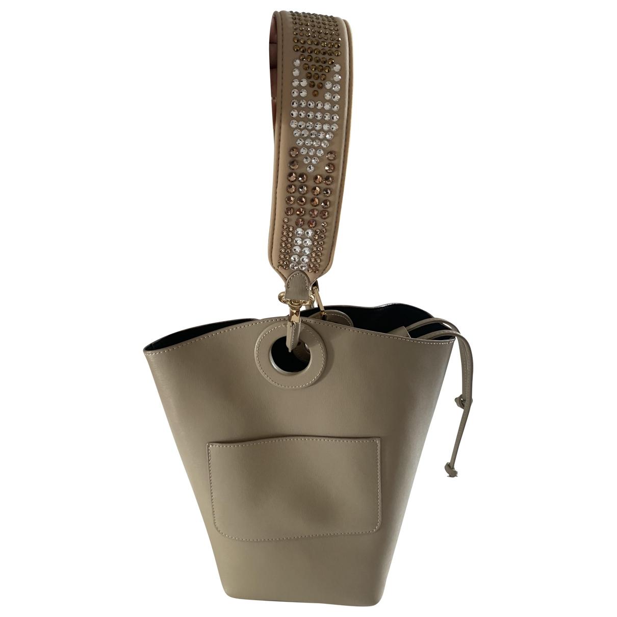 Pinko \N Handtasche in  Beige Leder