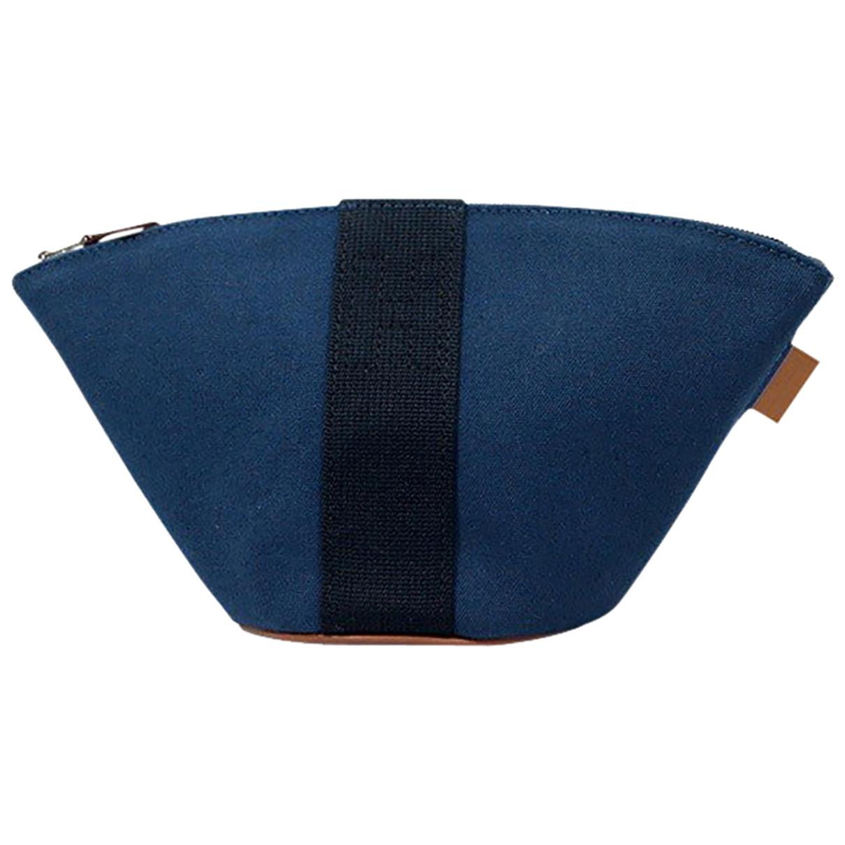 Hermès \N Blue Cotton Travel bag for Women \N