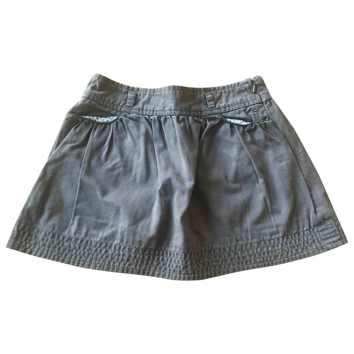 Bonpoint - Jupe   pour enfant en coton - kaki